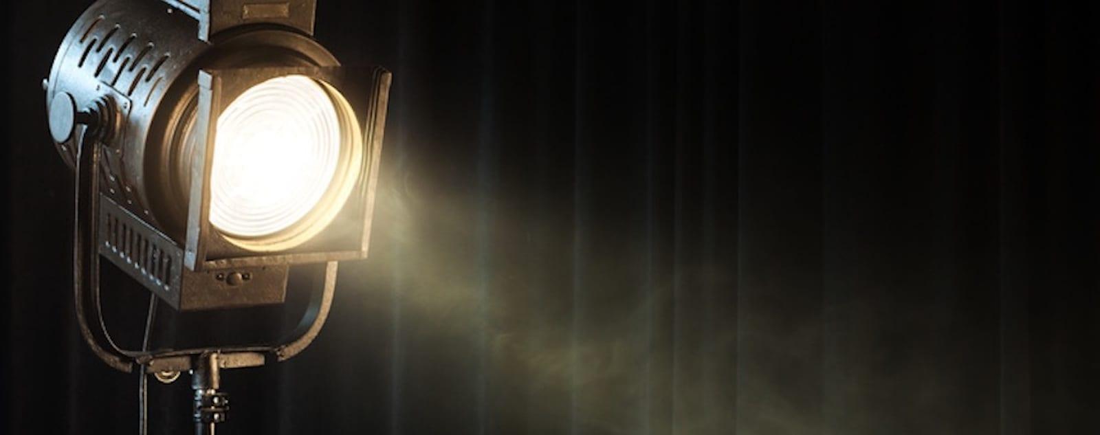 vintage theatre spot light