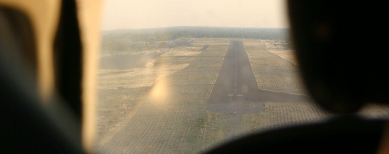 Landebahn in Botswana